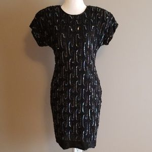 Vintage Stenay silk sequin dress